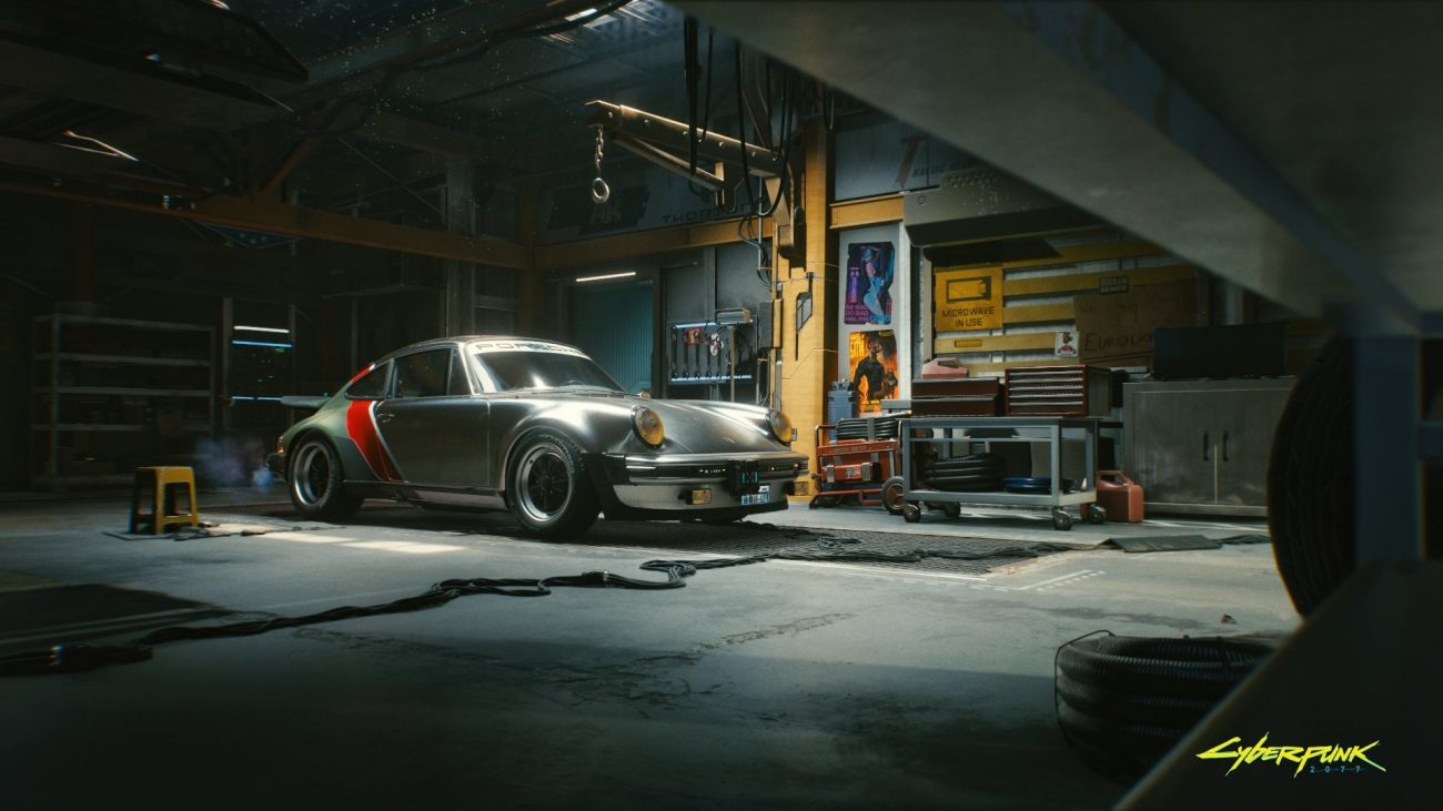 Cyberpunk 2077 Porche vehicle