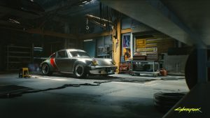 Cyberpunk 2077 Porche vehicle