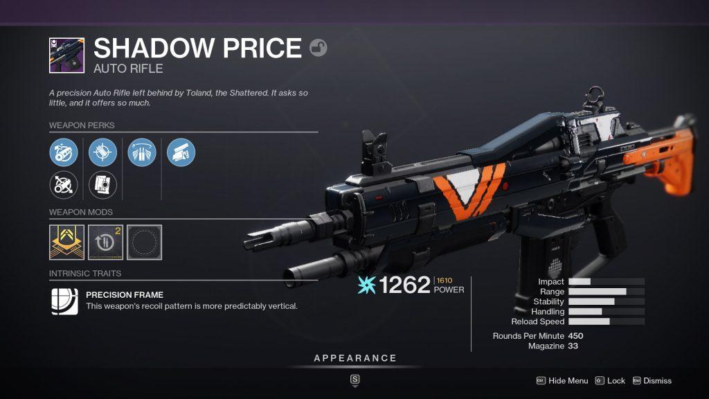 Shadow Price 1024x576 - Nightfall Weapon Rotation Schedule – Destiny 2