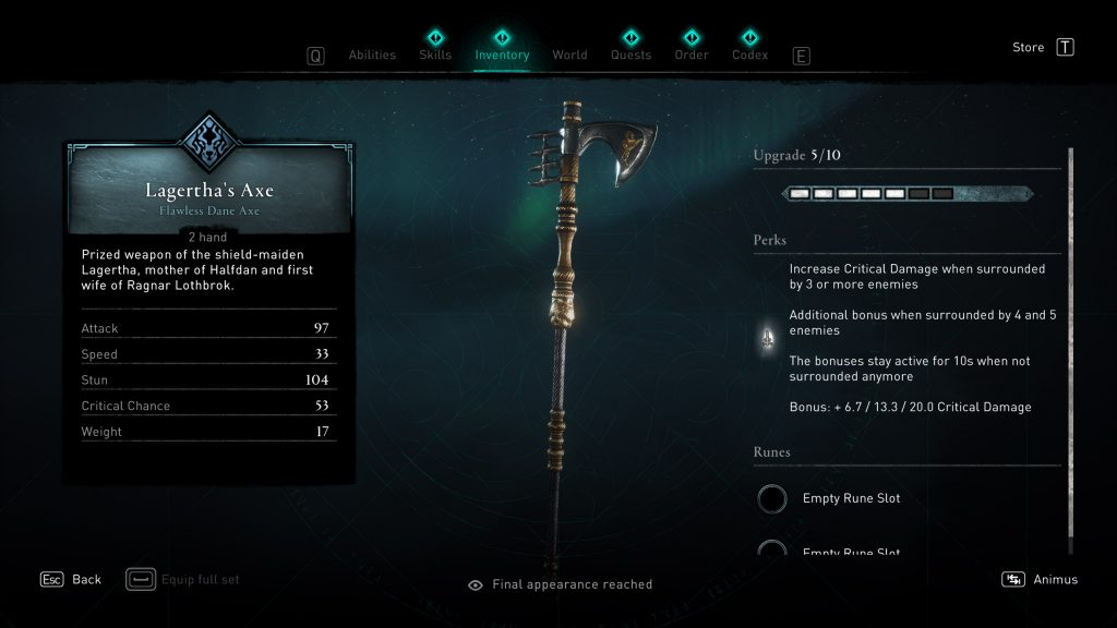 lagerthas axe assassins creed valhalla 1024x576 - Lagertha's Axe - Assassin's Creed Valhalla