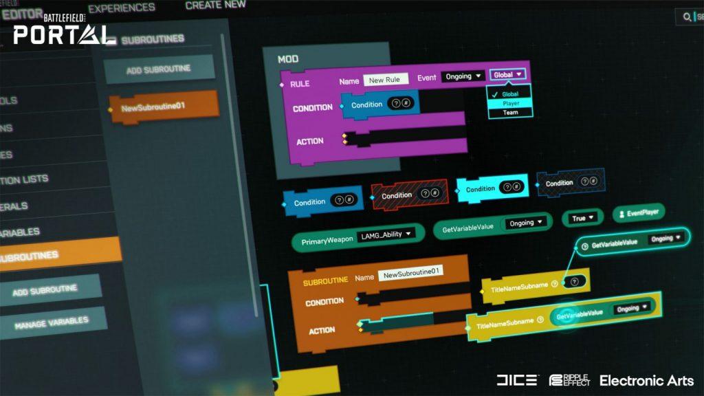 Battlefield Portal Logic Editor 1024x576 - Battlefield Portal Mode for Battlefield 2042 Revealed During EA Play