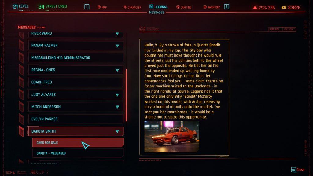 Cyberpunk 2077 Quartz Bandit Dakota 1024x576 - How to Get the Archer Quartz Bandit in Cyberpunk 2077
