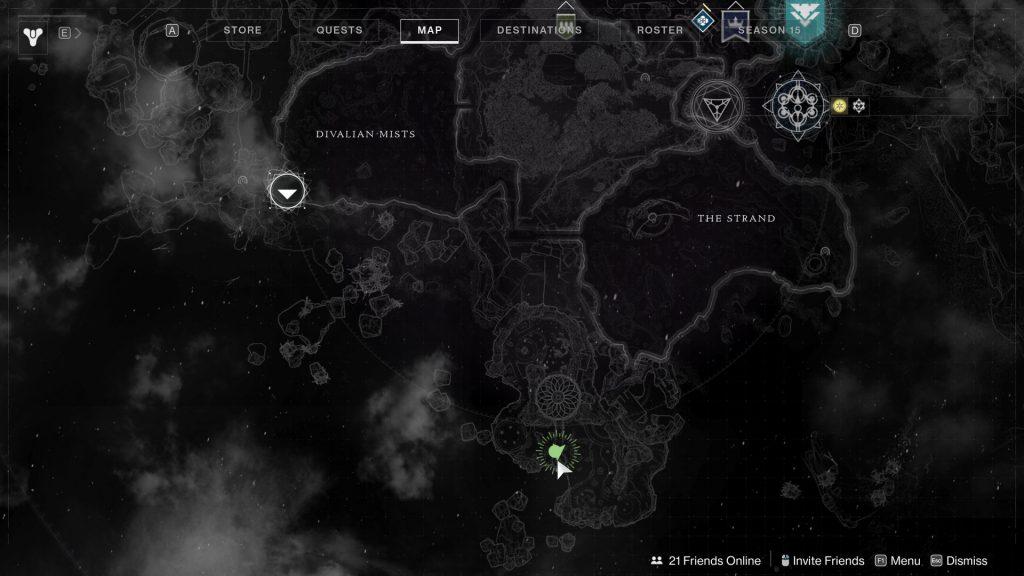 bridge tree map 1024x576 - Tracing the Stars II - Destiny 2: Atlas Skew Locations - Week 2