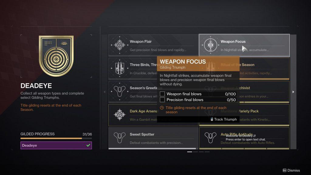 weapon focus triumph destiny 2 1024x576 - Sweet Spotter Triumph - Destiny 2