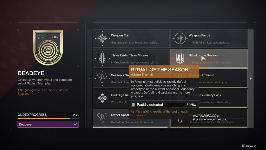 ritual of the season destiny 2 1024x576 - Sweet Spotter Triumph - Destiny 2
